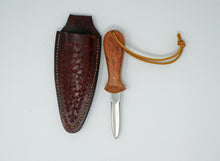 Custom made Oyster Knives with leather sheaths