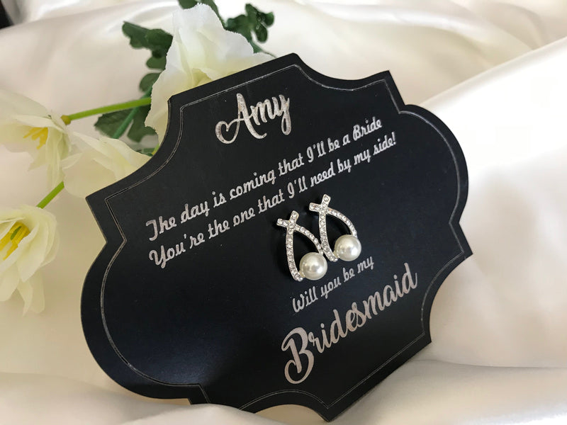 Bridesmaid Proposal Earrings now available
