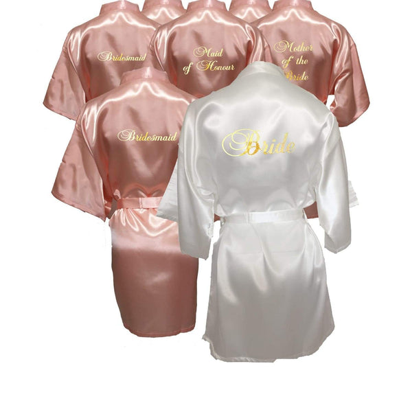 Light Peach Bridal Party Robes now available