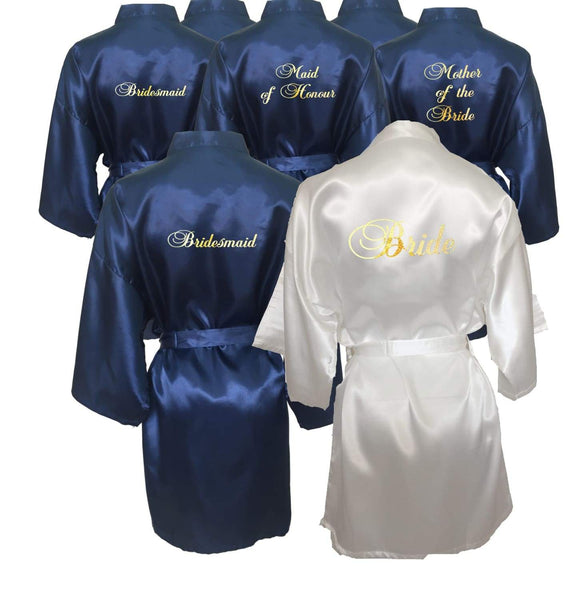 Sets of 8 Bridal Party Robes now available
