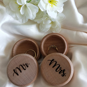 Ring Bearer Box - Mr and Mrs Set | Bridal Delights