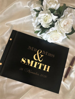 Wedding guest book - 3D Mr & Mrs | Bridal Delights