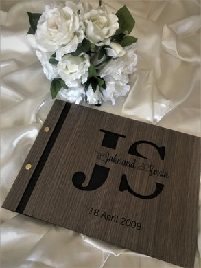 Wedding guest book - 3D Monogram | Bridal Delights