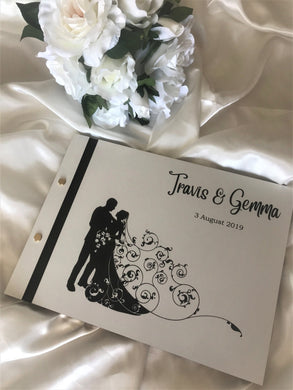 Wedding guest book - White engraved | Bridal Delights