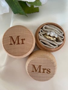 Ring Bearer Box - Mr and Mrs Set  -  Bridal Delights
