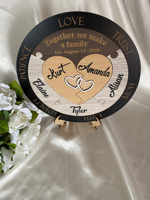 Unity Puzzle - Hearts with 5 names | Bridal Delights