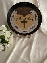 Load image into Gallery viewer, Unity Puzzle - Christian Cross with 7 names | Bridal Delights