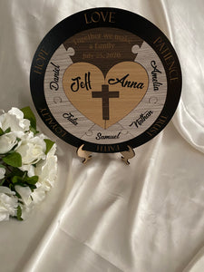 Unity Puzzle - Christian Cross with 7 names | Bridal Delights