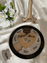 Load image into Gallery viewer, Unity Puzzle - Hearts with 9 names | Bridal Delights
