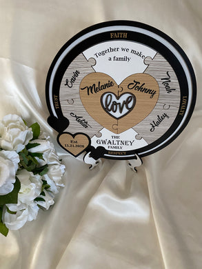 Wedding Ceremony Puzzle with white - Love with 6 names | Bridal Delights