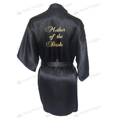 Black Bridesmaid Robe - Mother of the Bride from