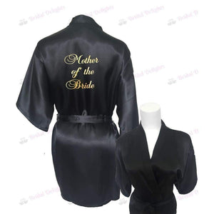 Black Bridesmaid Robe - Mother of the Bride from  -  Bridal Delights