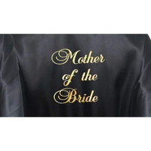 Load image into Gallery viewer, Black Bridesmaid Robe - Mother of the Bride from  -  Bridal Delights