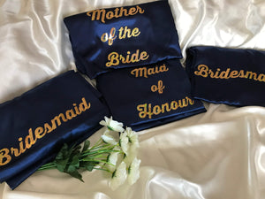 Bridesmaid Robes On Sale / Ready to Ship - Set of 4 Navy Blue Robes  -  Bridal Delights