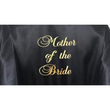 Load image into Gallery viewer, Bridesmaid Robes Set of 2 - White and Black Bridal Party Robes  -  Bridal Delights