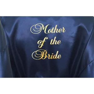 Bridesmaid Robes Set of 2 - White and Navy Blue Bridal Party Robes  -  Bridal Delights