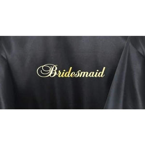 Bridesmaid Robes Set of 3 - White and Black Bridal Party Robes  -  Bridal Delights