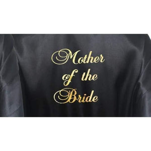 Bridesmaid Robes Set of 3 - White and Black Bridal Party Robes