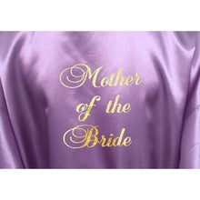 Load image into Gallery viewer, Bridesmaid Robes Set of 3 - White and Lilac Bridal Party Robes  -  Bridal Delights