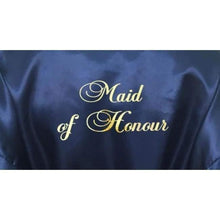 Load image into Gallery viewer, Bridesmaid Robes Set of 3 - White and Navy Blue Bridal Party Robes  -  Bridal Delights