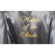 Load image into Gallery viewer, Bridesmaid Robes Set of 3 - White and Silver Bridal Party Robes