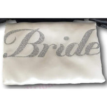 Load image into Gallery viewer, Bridesmaid Robes Set of 4 - White and Black with Silver Glitter Print