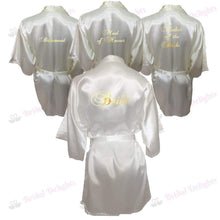 Load image into Gallery viewer, Bridesmaid Robes Set of 4 - White and Ivory Bridal Party Robes  -  Bridal Delights
