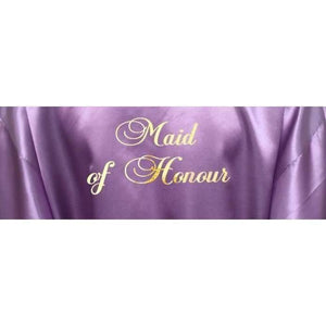 Bridesmaid Robes Set of 4 - White and Lilac Bridal Party Robes  -  Bridal Delights