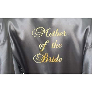 Bridesmaid Robes Set of 4 - White and Silver Bridal Party Robes  -  Bridal Delights