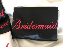 Load image into Gallery viewer, Bridesmaid Robes Set of 5 - White and Black with Red Print  -  Bridal Delights