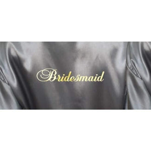Bridesmaid Robes Set of 5 - White and Silver Bridal Party Robes  -  Bridal Delights