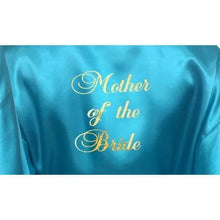Load image into Gallery viewer, Bridesmaid Robes Set of 5 - White and Turquoise Bridal Party Robes  -  Bridal Delights