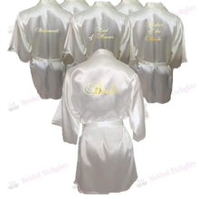 Load image into Gallery viewer, Bridesmaid Robes Set of 6 - White and Ivory Bridal Party Robes  -  Bridal Delights