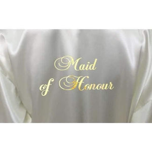 Bridesmaid Robes Set of 6 - White and Ivory Bridal Party Robes  -  Bridal Delights