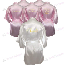 Load image into Gallery viewer, Bridesmaid Robes Set of 6 - White and Pink Bridal Party Robes  -  Bridal Delights