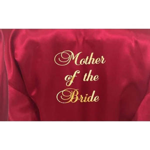 Bridesmaid Robes Set of 7 - White and Burgundy Bridal Party Robes  -  Bridal Delights