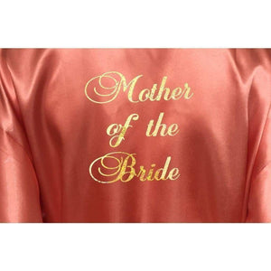 Bridesmaid Robes Set of 7 - White and Coral Bridal Party Robes  -  Bridal Delights