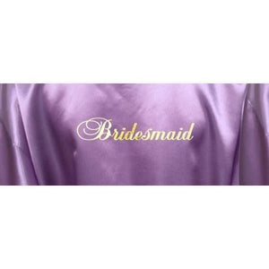 Bridesmaid Robes Set of 7 - White and Lilac Bridal Party Robes  -  Bridal Delights