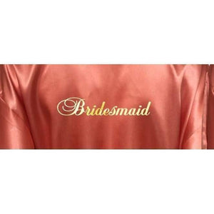 Bridesmaid Robes Set of 9 - White and Coral Bridal Party Robes  -  Bridal Delights