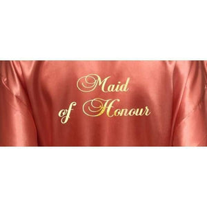 Bridesmaid Robes Set of 9 - White and Coral Bridal Party Robes