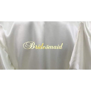 Bridesmaid Robes Set of 9 - White and Ivory Bridal Party Robes  -  Bridal Delights