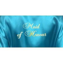 Load image into Gallery viewer, Bridesmaid Robes Set of 9 - White and Turquoise Bridal Party Robes  -  Bridal Delights