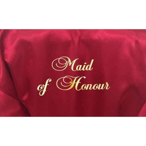 Burgundy Bridesmaid Robe - Maid of Honour from