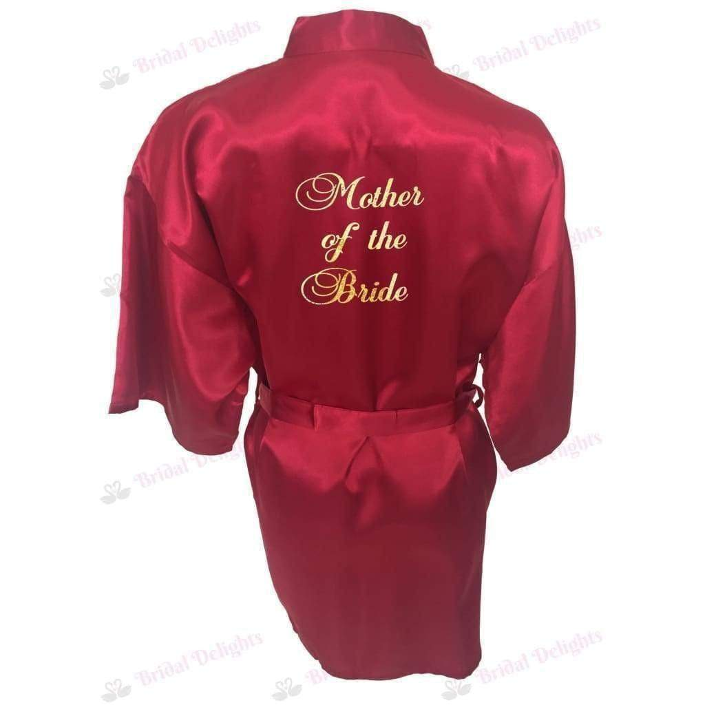 Burgundy Bridesmaid Robe - Mother of the Bride from