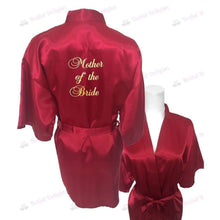 Load image into Gallery viewer, Burgundy Bridesmaid Robe - Mother of the Bride from  -  Bridal Delights