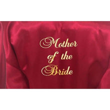 Load image into Gallery viewer, Burgundy Bridesmaid Robe - Mother of the Bride from