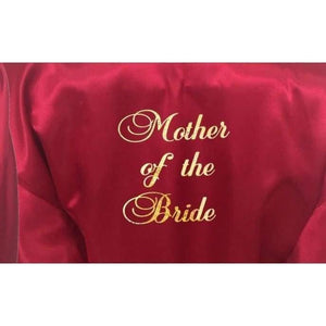Burgundy Bridesmaid Robe - Mother of the Bride from  -  Bridal Delights