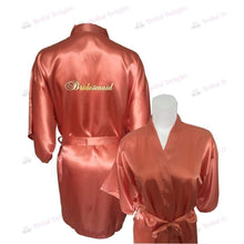 Load image into Gallery viewer, Coral Bridesmaid Robe - Bridal Party Robe from