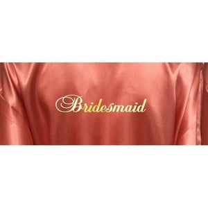 Coral Bridesmaid Robe - Bridal Party Robe from