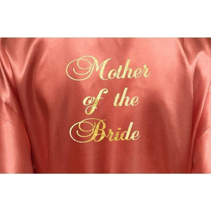 Coral Bridesmaid Robe - Mother of the Bride from